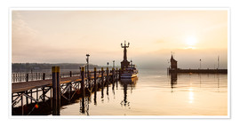 Poster  Morning mood in Constance on Lake Constance - Dieterich Fotografie
