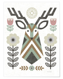 Poster Cerf hygge