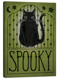 Tableau sur toile  Chat Spooky Halloween - Sara Zieve Miller