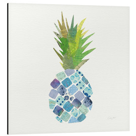 Tableau en aluminium  Ananas tropical amusant II - Courtney Prahl