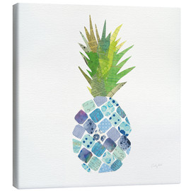 Toile  Ananas tropical amusant II - Courtney Prahl