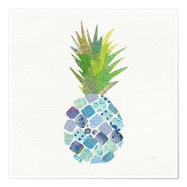 Poster  Ananas tropical amusant II - Courtney Prahl