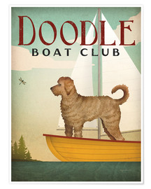 Poster Doodle boat club