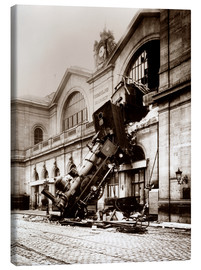 Tableau sur toile  Accident de train à la gare Montparnasse à Paris - John Parrot