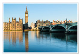 Fraser Hall - Big Ben, the Palace of Westminster, UNESCO World Heritage Site, and Westminster Bridge, London, Engl