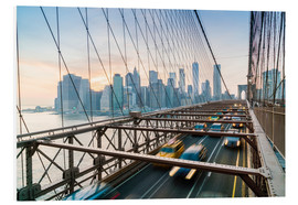 Tableau en PVC  Trafic sur le pont entre Brooklyn et Manhattan - Fraser Hall