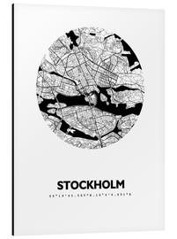 Alu-Dibond  Plan de la ville de Stockholm - 44spaces