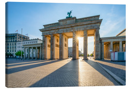 Toile  The Brandenburg Gate in Berlin - Jan Christopher Becke
