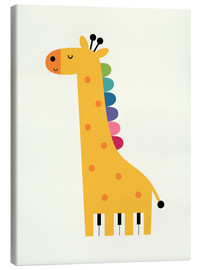 Tableau sur toile  Girafe piano - Andy Westface
