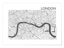 Poster  Plan de la ville de Londres - 44spaces