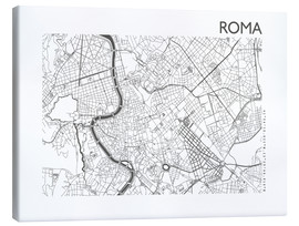 Toile  Carte de Rome - 44spaces