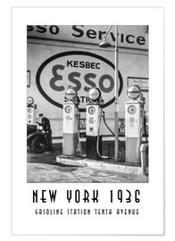 Poster New York 1936, Gasoline Station Tenth Avenue