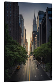 Alu-Dibond  New York City Sunset - Dennis Fischer