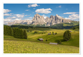 Poster  Summer in the Dolomites - Michael Valjak