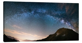 Tableau sur toile  Milky Way arch and starry sky on the Alps. Panoramic view - Fabio Lamanna