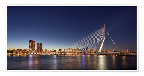 posters & affiches de rotterdam skyline panorama   posterlounge