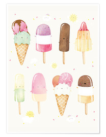 Poster Glaces