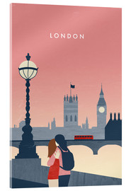 Tableau en verre acrylique  Illustration London - Katinka Reinke