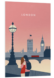 Tableau en PVC  Illustration London - Katinka Reinke