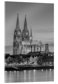 Verre acrylique  Cologne Cathedral black-and-white - Michael Valjak