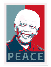 Poster  Nelson Mandela Peace and Hope - Alex Saberi