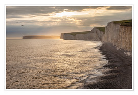 Poster Falaises crayeuses de Seven Sisters, Angleterre