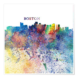 Poster Skyline de Boston