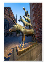 Poster  The statue of the Bremen Town Musicians - Jan Christopher Becke