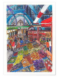 Poster  Marché couvert de Wroclaw - Hartmut Buse