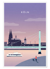 Poster  Illustration Köln, Cologne - Katinka Reinke