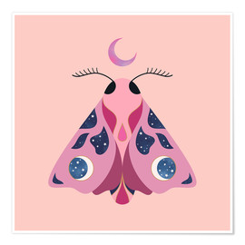 Poster  Papillon lune - Carly Watts