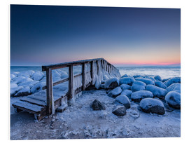 Heiko Mundel - Jetty on the icy Baltic Sea near Travemünde