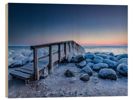 Bois  Jetty on the icy Baltic Sea near Travemünde - Heiko Mundel