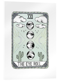 Verre acrylique  The Eye Roll, cate de tarot - Barlena