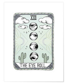 Poster  The Eye Roll, cate de tarot - Barlena