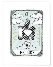 Poster The Like, carte de tarot