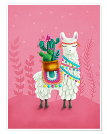 Elena Schweitzer - Illustration of a cute llama