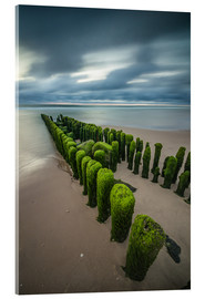 Verre acrylique  mystical groyne on Sylt (long exposure) - Heiko Mundel