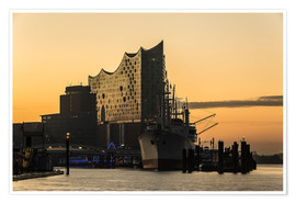 Heiko Mundel - Morning mood at the Elbphilharmonie in Hamburg