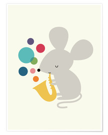 Poster  Souris musicienne - Andy Westface