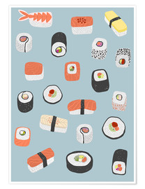 Poster  Sushis, des Makis aux Nagiris - Nic Squirrell
