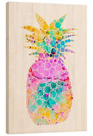 Tableau en bois  Ananas multicolore - Miss Coopers Lounge
