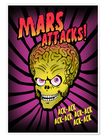 Poster Mars Attacks! (anglais)