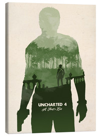 Tableau sur toile  Uncharted 4 - Golden Planet Prints