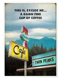 Poster Twin Peaks vintage (anglais)