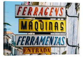 Toile  Colorful Vintage Store Signs In Lisbon - Radu Bercan