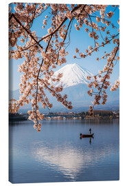 Toile  Mt. Fuji in springtime with cherry trees - Matteo Colombo
