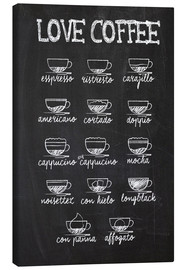 Toile  Love coffee - Typobox