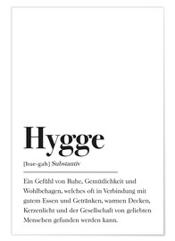 Poster Définition Hygge (allemand)