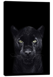 Toile  Black panther on black - Valeriya Korenkova